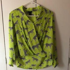 Ann Taylor cheetah blouse